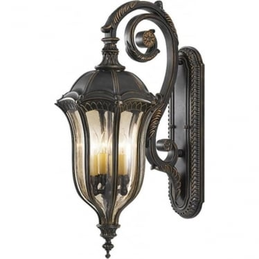 Baton Rouge Large Wall Lantern Walnut
