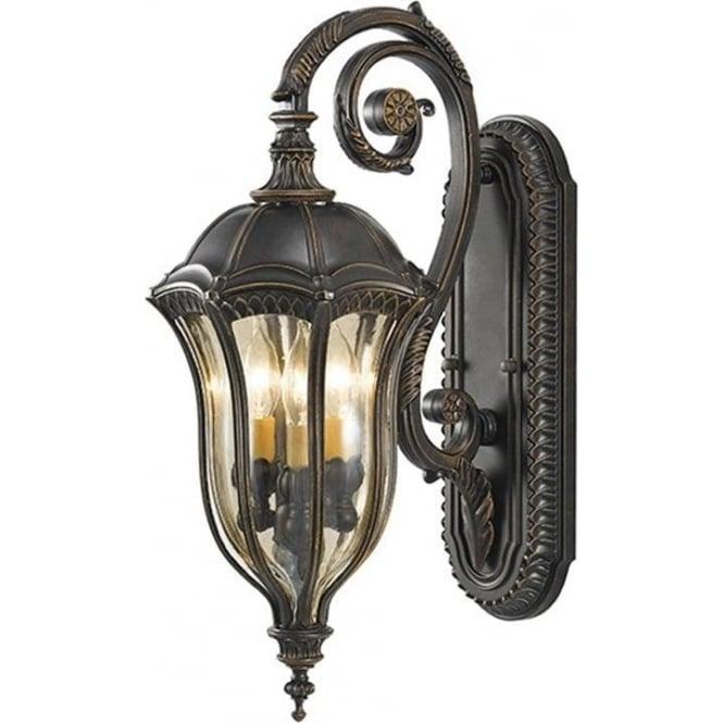 Feiss Baton Rouge Medium Wall Lantern Walnut