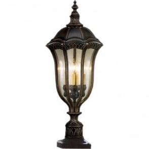 Baton Rouge Pedestal Lantern Walnut