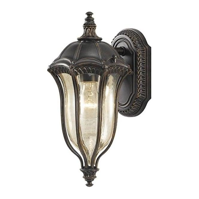Feiss Baton Rouge Small Wall Lantern Walnut