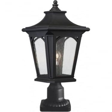 Bedford Medium Pedestal Lantern Mystic Black