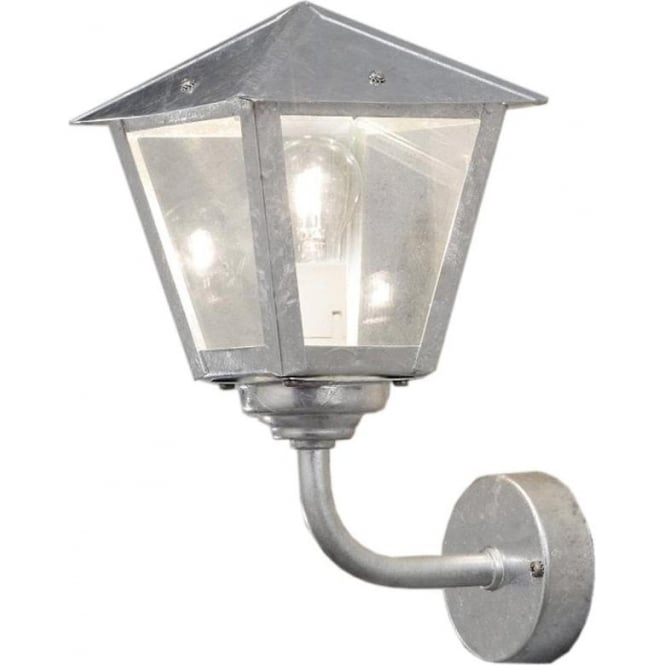 Konstsmide Garden Lighting Benu wall up light - galvanised 439-320