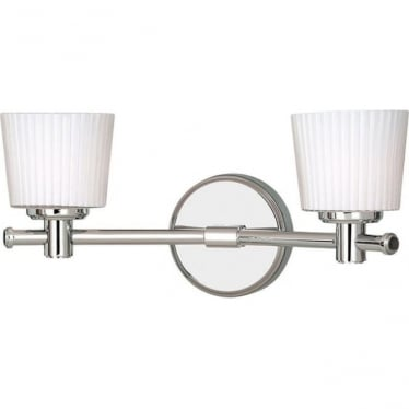 Binstead 2 light Wall Fitting Polished Chrome