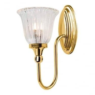 Blake Single Wall Light Polished Brass