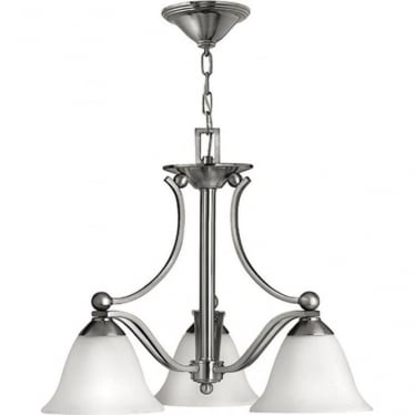 Bolla 3 light Chandelier Brushed Nickel