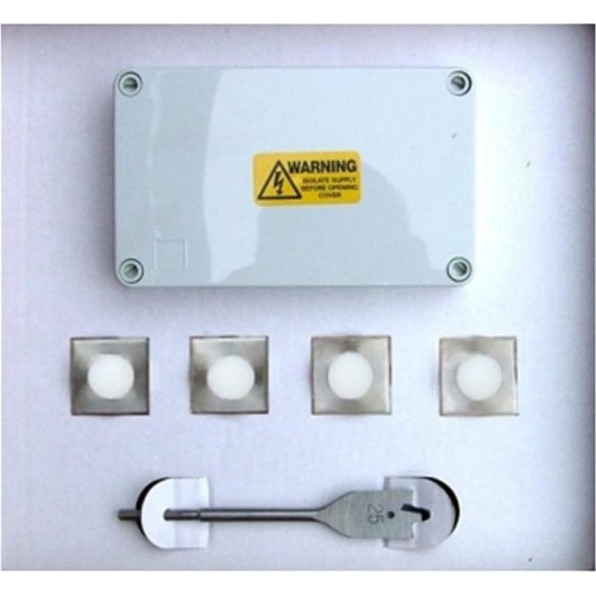 UniLED LED Lighting Box Set of  Square Deck Lights - stainless steel