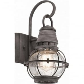 Bridge Point Small Wall Lantern Weathered Zinc