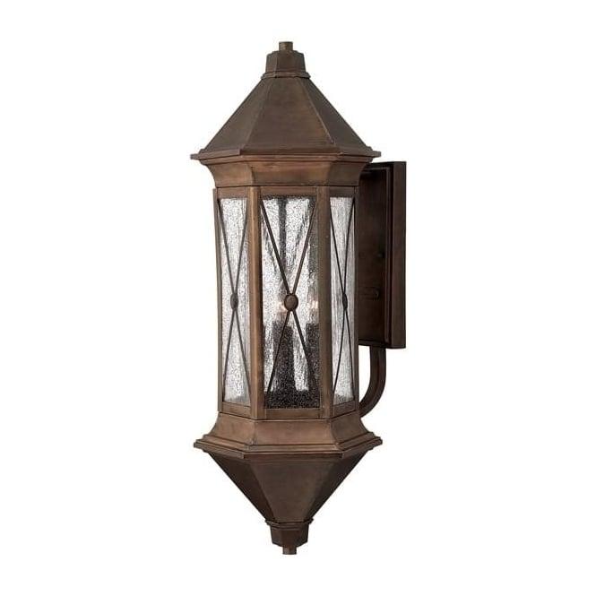 Hinkley Lighting Brighton extra large wall lantern - Brass