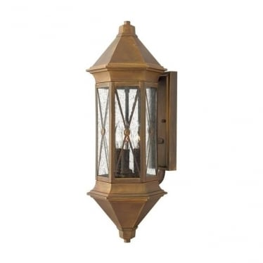Brighton large wall lantern - Brass