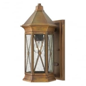 Brighton small wall lantern - Brass