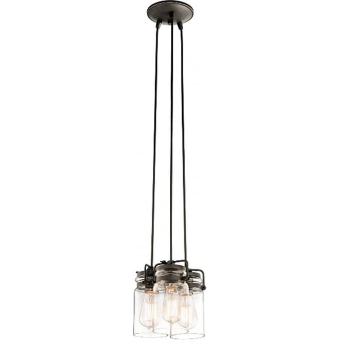 Kichler Brinley 3 Light Pendant Old Bronze