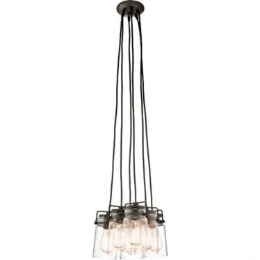 Brinley 6 Light Pendant Old Bronze