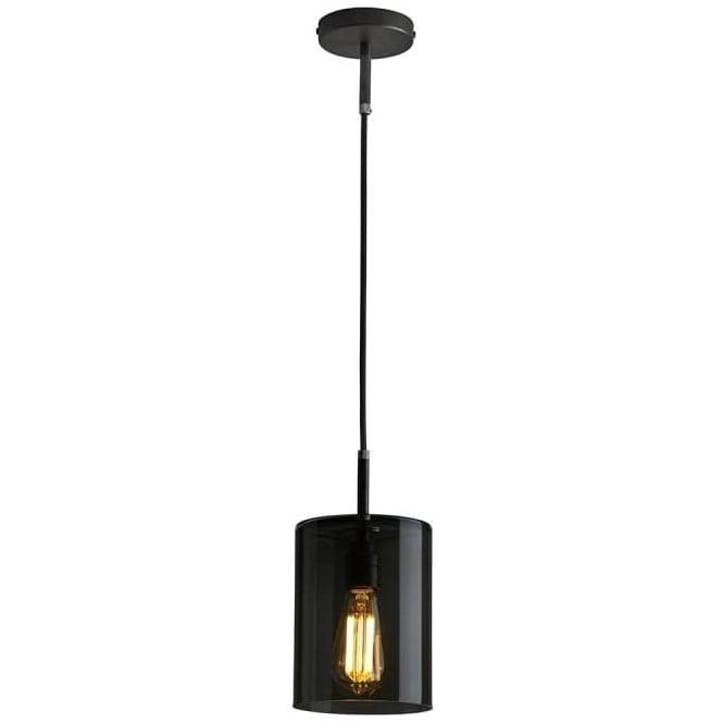 Original BTC Lighting Brompton pendant size 1 anthracite glass pendant