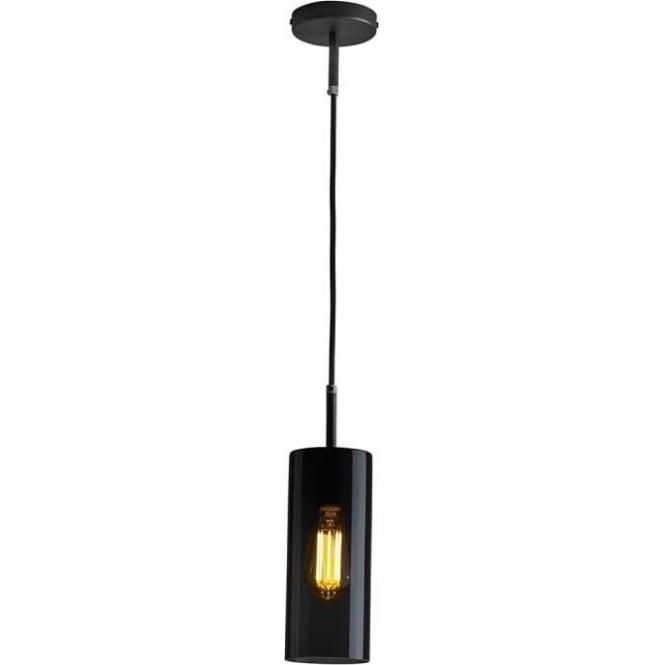 Original BTC Lighting Brompton pendant size 2 anthracite glass pendant