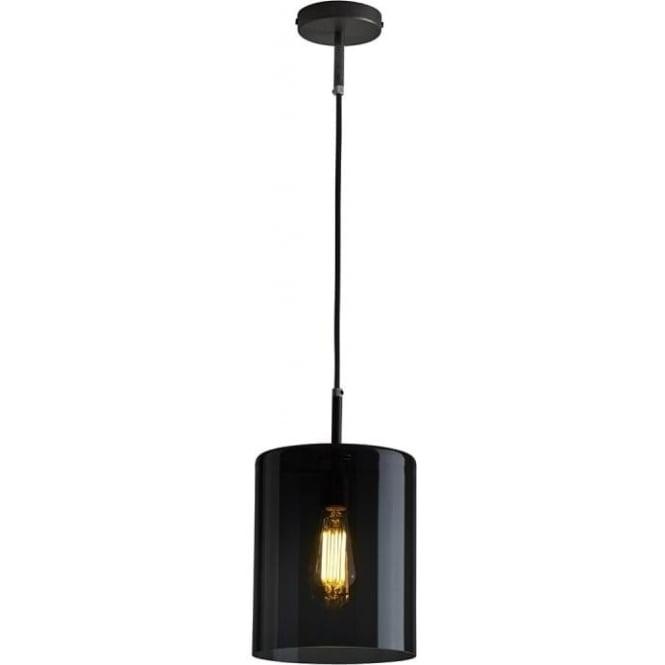 Original BTC Lighting Brompton pendant size 3 anthracite glass pendant