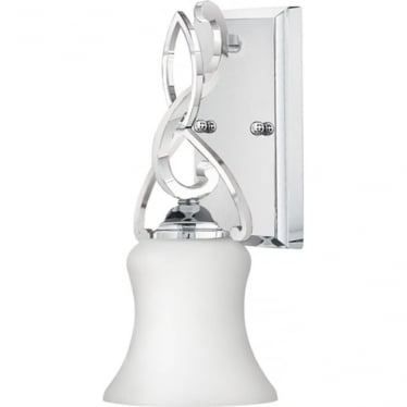 Brooke Single Wall Light Polished Chrome