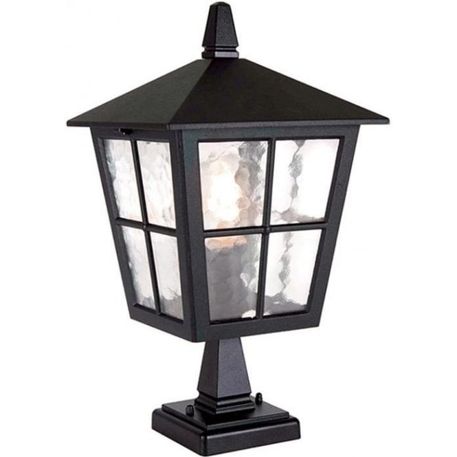 Elstead Lighting Canterbury  Pedestal Lantern - Black