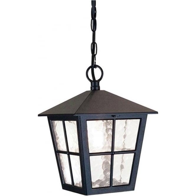 Elstead Lighting Canterbury Porch Chain Lantern - Black