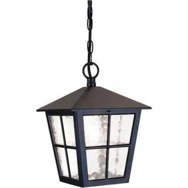 Canterbury Porch Chain Lantern - Black
