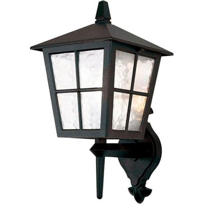 Elstead Lighting Canterbury Wall Up Lantern - Black