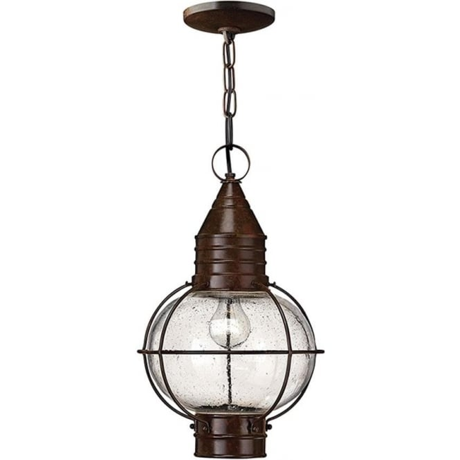 Hinkley Lighting Cape Cod Duo-Mount Large chain lantern - Sienna Bronze