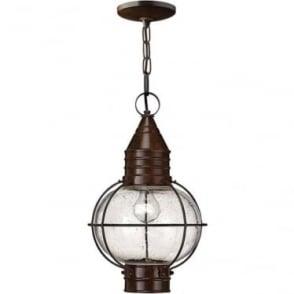 Cape Cod Duo-Mount Large chain lantern - Sienna Bronze