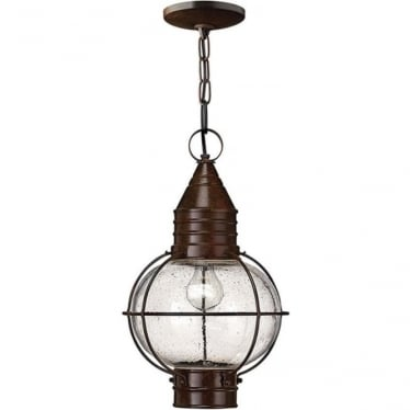 Cape Cod Duo-Mount Large chain lantern - Sienna Bronze