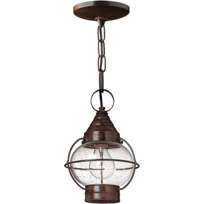 Hinkley Lighting Cape Cod Duo-Mount small chain lantern - Sienna Bronze