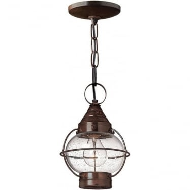 Cape Cod Duo-Mount small chain lantern - Sienna Bronze