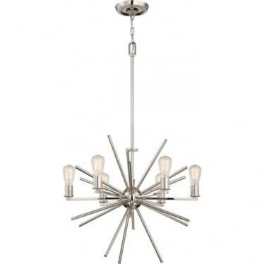 Carnegie 6 Light Chandelier Imperial Silver