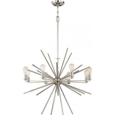 Carnegie 8 Light Chandelier Imperial Silver