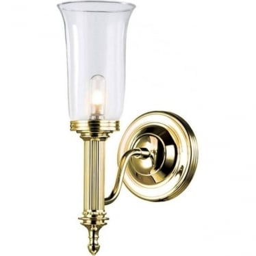 Carroll Single Wall Light Polished Brass