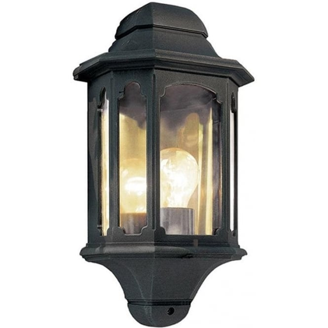 Elstead Lighting Chapel Half Lantern - Black