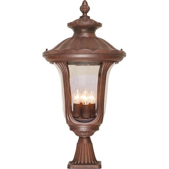 Elstead Lighting Chicago Pedestal Lantern Large - Rusty Bronze