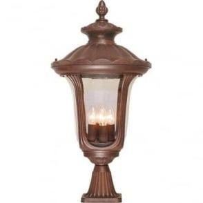 Chicago Pedestal Lantern Large - Rusty Bronze