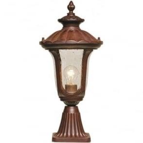 Chicago Pedestal Lantern Small - Rusty Bronze