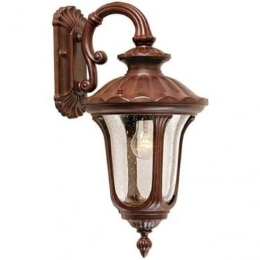 Chicago Wall Down Lantern Small - Rusty Bronze