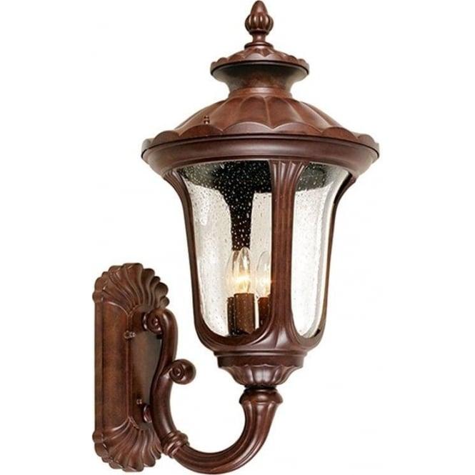 Elstead Lighting Chicago Wall Up Lantern Large - Rusty Bronze