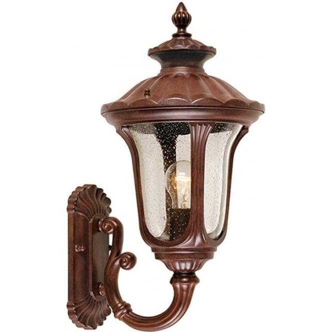Elstead Lighting Chicago Wall Up Lantern Small - Rusty Bronze