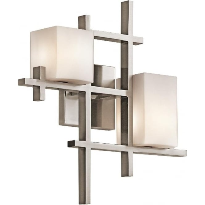 Kichler City Lights 2 light Wall Fitting Classic Pewter
