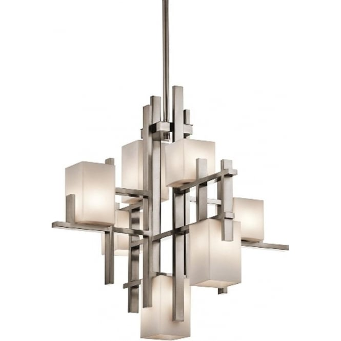 Kichler City Lights 7 light Chandelier Classic Pewter