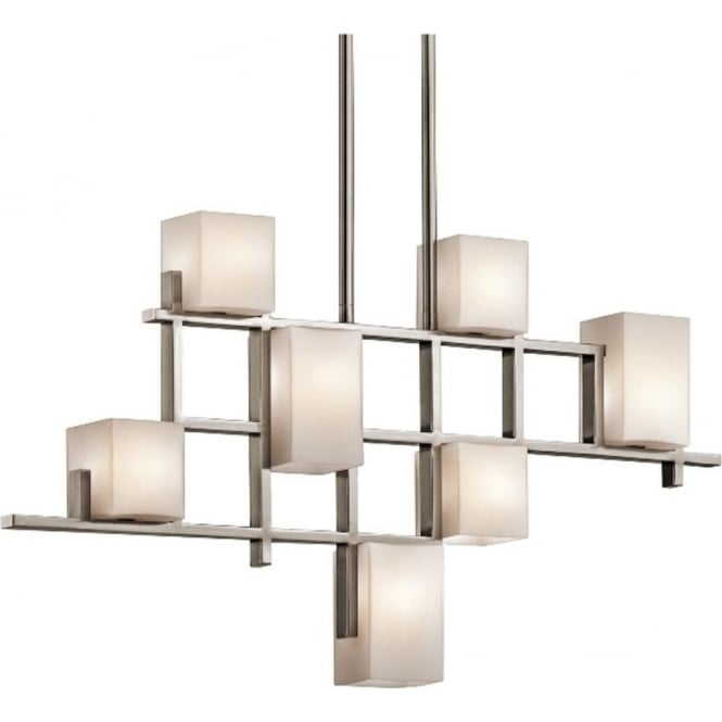 Kichler City Lights 7 light linear Chandelier Classic Pewter
