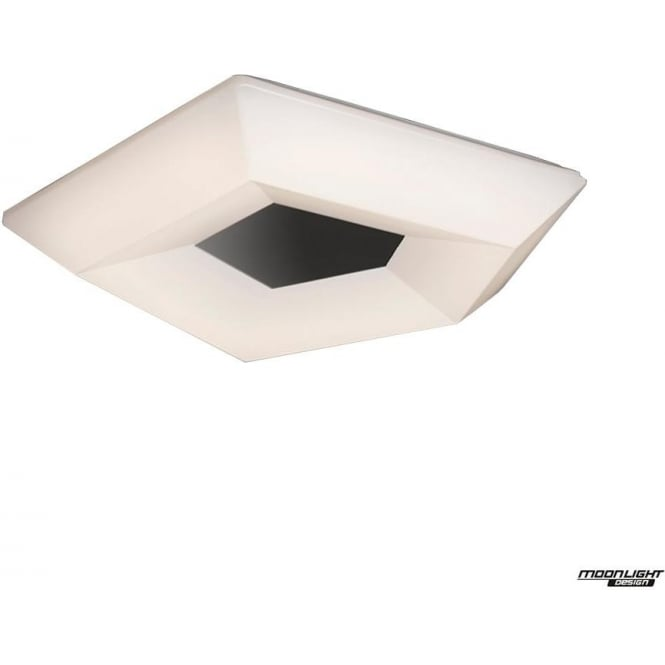 Mantra City Single LED Small Flush Ceiling Fitting in White/Chrome