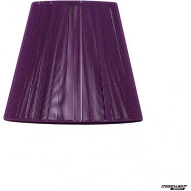 Clip On Silk String Shade Aubergine 130mm