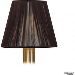 Clip On Silk String Shade Dark Brown 130mm