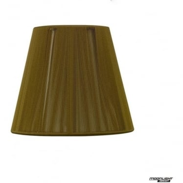 Clip On Silk String Shade Olive 130mm