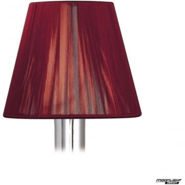 Clip On Silk String Shade Red Wine 130mm