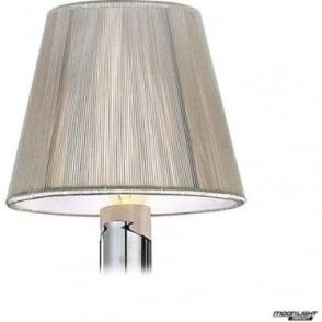 Clip On Silk String Shade Silver Grey 130mm