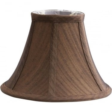 Clip Shade Brown Silk Effect Candle Shade