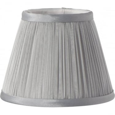 Clip Shade Grey Chiffon Candle Shade